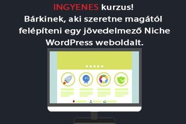 WordPress Niche weboldal készítés tanfolyam