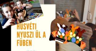 Kreatív hobbi-Húsvéti nyuszi ül a fűben készítése [NboM kreatív média]