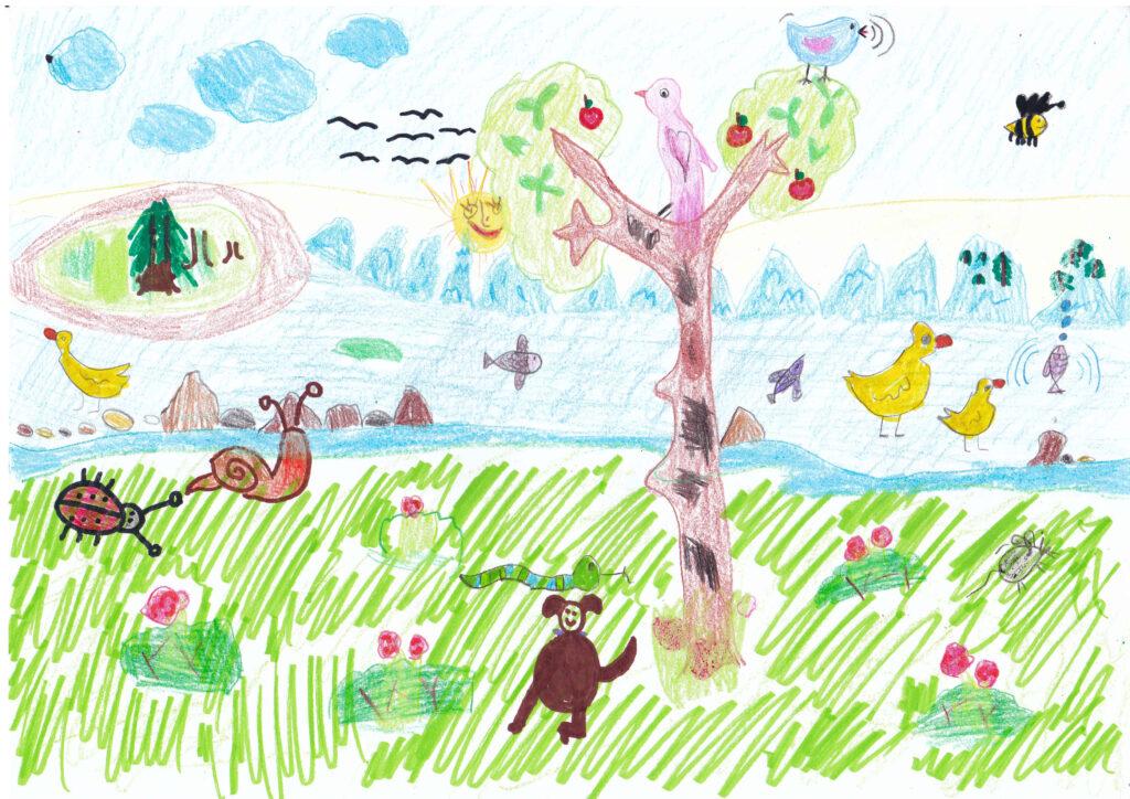 Természet hangjai rajzverseny nyertes rajza