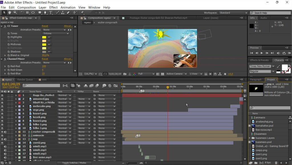 Adobe After Effects-vers-zongora-animációs projekt.aep
