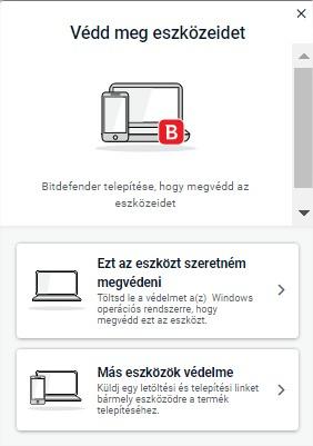 Telepítse a Bitdefender termékeket eszközeire