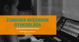 Zongora akkordok gyakorlása gyerekeknek különböző stílusban