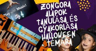 Zongora alapok tanulása és gyakorlása Halloween témára [alapfokú]