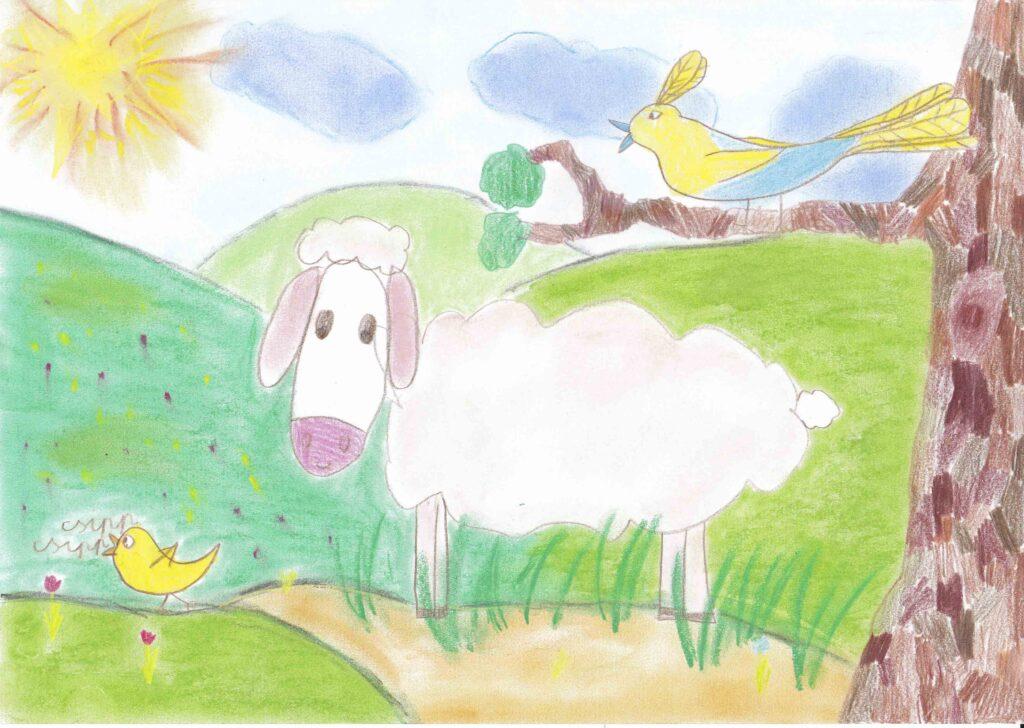 Nagy-Borkó Fanni 1.b osztályos tanuló rajza